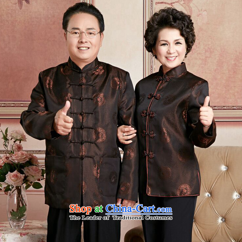 Find in the autumn and winter Sophie older men and women Tang dynasty taxi couples with brocade coverlets made wedding anniversary celebration of long-sleeved jacket?- 3 ?women?XL