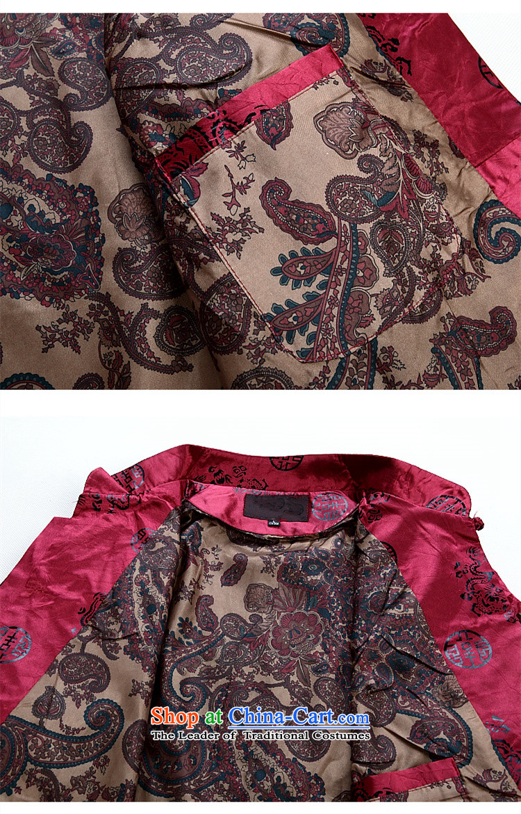 Princess Selina Chow in autumn and winter in older men Tang Jacket coat collar Tang Dynasty Chinese national consultations with loose diskette Clip Red Dress men Tang dynasty deep red T-shirt聽7XL picture, prices, brand platters! The elections are supplied in the national character of distribution, so action, buy now enjoy more preferential! As soon as possible.