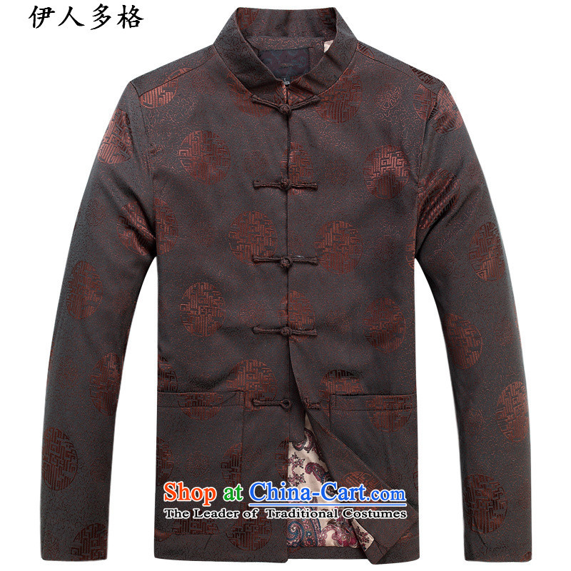 The Mai-Mai more men of older persons in the Tang Dynasty Men long-sleeved birthday too Shou Chinese dress jacket for the elderly father replacing Chinese dress making single tri-color T-shirt?170