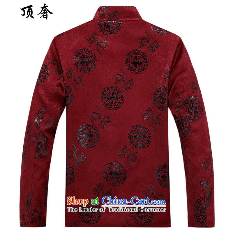 Top Luxury聽2015 Fall/Winter Collections men Tang blouses bows services such long sleeve jacket coat wedding ceremony of Chinese birthday wearing red cotton coat Hee-ryong, red cotton coat聽180, top luxury shopping on the Internet has been pressed.