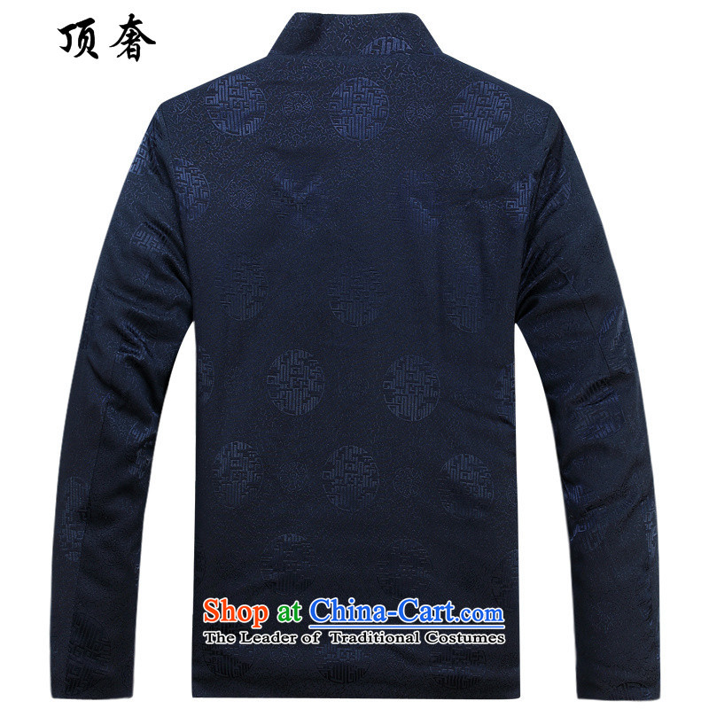 Top Luxury of older men Tang dynasty large long-sleeved jacket coat to thick older red collar loose version is too short life blouses autumn and winter, round-hi)聽180, blue shirt top luxury shopping on the Internet has been pressed.