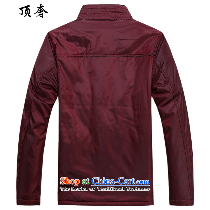 Top Luxury men Tang jacket thick coat fall/winter collections to intensify the older long-sleeved jacket Tang collar up red plus cotton jacket detained men father grandfather red cotton coat聽170, the top luxury shopping on the Internet has been pressed.