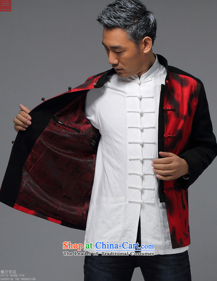 Renowned China wind men Tang Dynasty Chinese men and a long-sleeved jacket in elderly men casual taxi Tang dynasty autumn and winter coats black 4XL Photo, prices, brand platters! The elections are supplied in the national character of distribution, so action, buy now enjoy more preferential! As soon as possible.