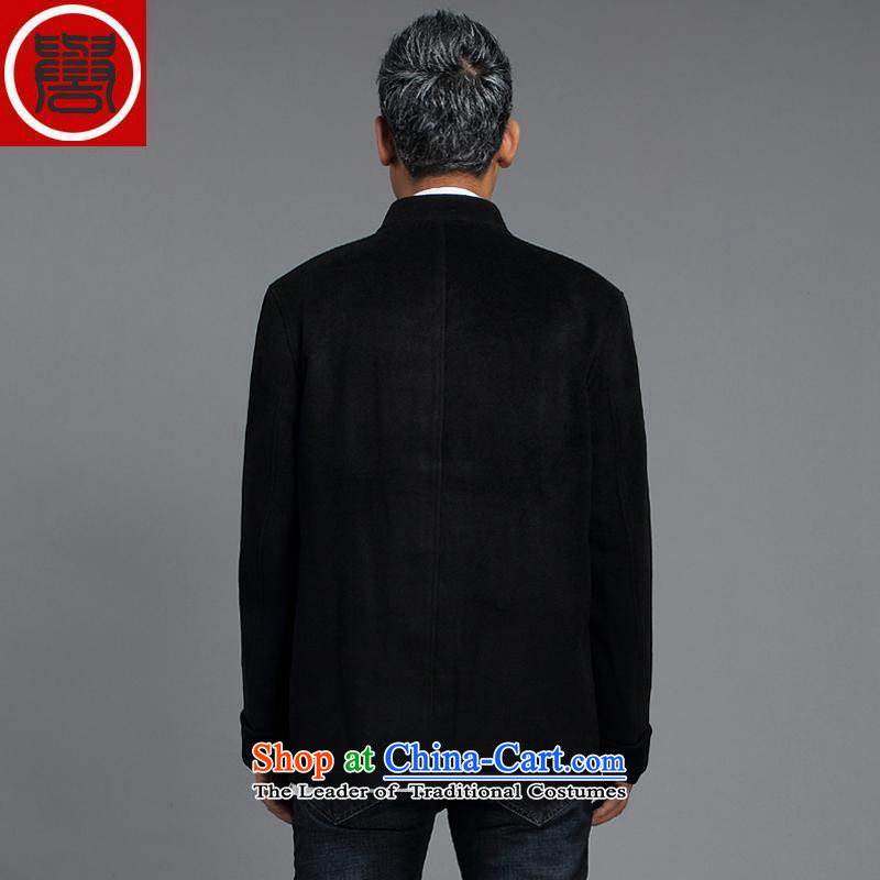 Renowned China wind men Tang Dynasty Chinese men and a long-sleeved jacket in elderly men casual taxi Tang dynasty autumn and winter coats black 4XL, renowned (CHIYU) , , , shopping on the Internet