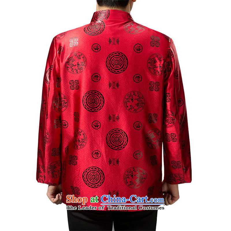 The Rafael Hui Kai 2015 winter clothing new Tang dynasty in Tang Dynasty father load older Happy Birthday Feast cotton jacket Chinese robe 13191 red/Cotton,聽Dili Mr Rafael Hui Kai.... 180/XL, shopping on the Internet