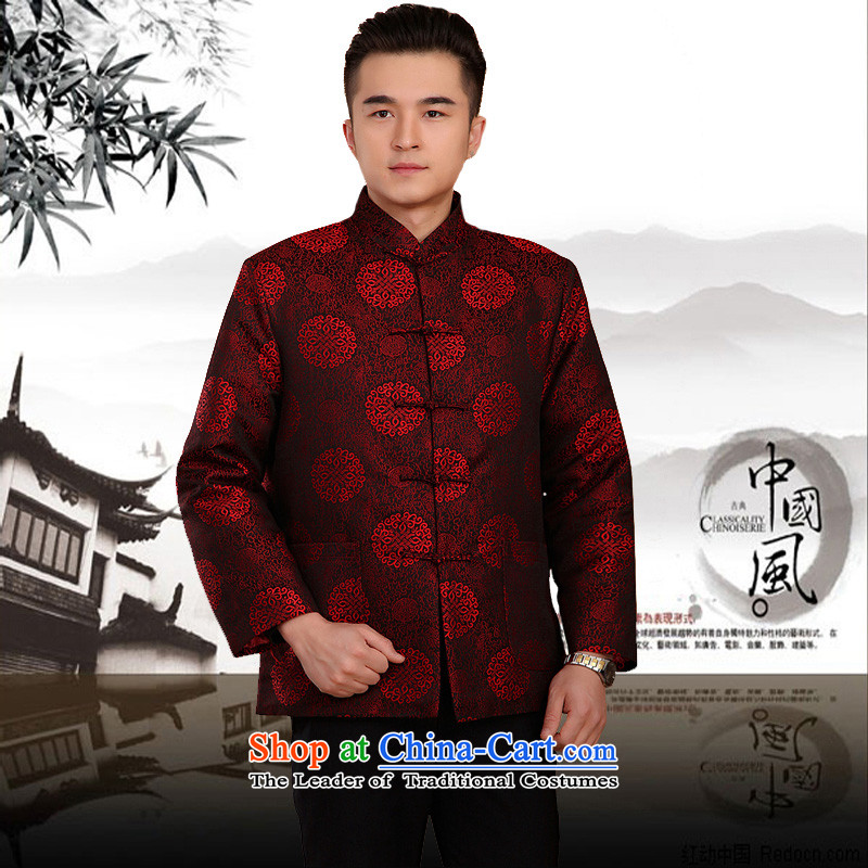 The Rafael Hui Kai?2015 winter new couples in Tang Dynasty older couples with golden marriage birthday celebration of the birthday of the Cotton Tang jackets men 13183 13183 couples bourdeaux?170 cotton folder_