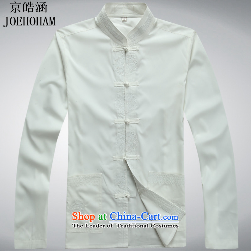 The new Beijing Hao (JOE HOHAM) Chinese clothing and groom dress ancient costumes Tang Dynasty Chinese tunic white shirt?XL