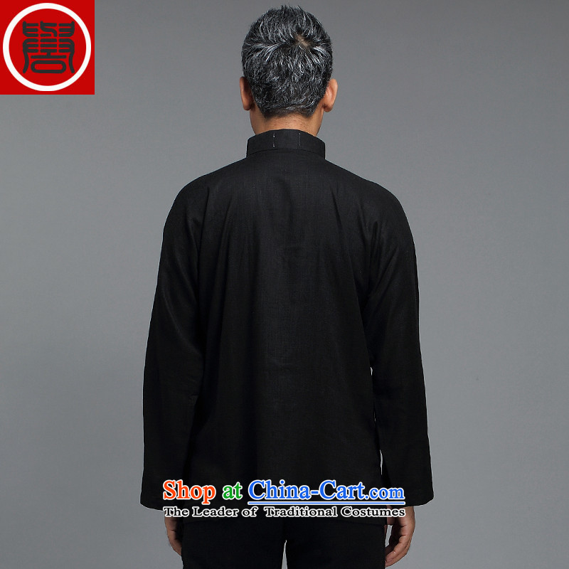 Renowned Tang dynasty male Han-improved Chinese men fall long-sleeved sweater collar China wind men tray clip renowned white shirt XL, CHIYU () , , , shopping on the Internet