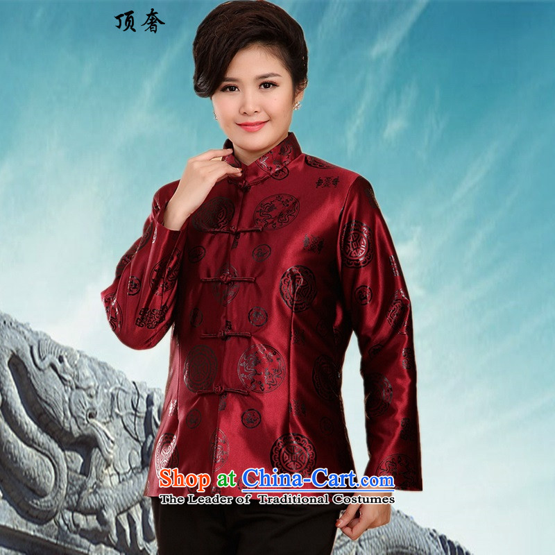 Top Luxury new autumn and winter Tang jacket men in older add cotton jacket Tang male banquet grandpa replacing Tang dynasty China wind ãþòâ -2069) purple shirt Women Men 185 top luxury shopping on the Internet has been pressed.