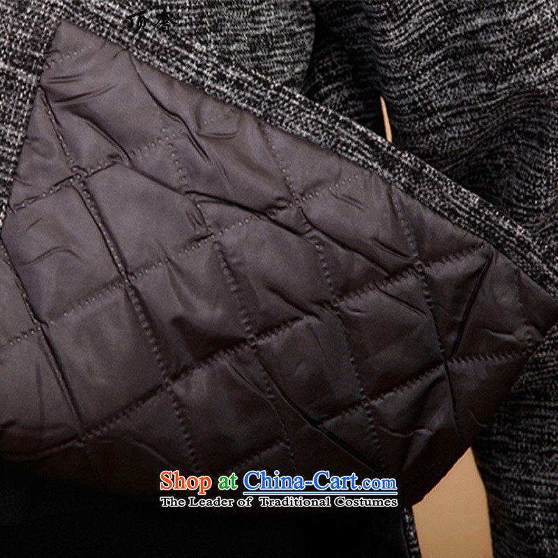 Top Luxury of older men winter coats Tang dynasty ãþòâ older Chinese national disk life too thick robe autumn and winter detained, lenient to xl leisure shirt Ma Tei3XL/185, gray top luxury shopping on the Internet has been pressed.