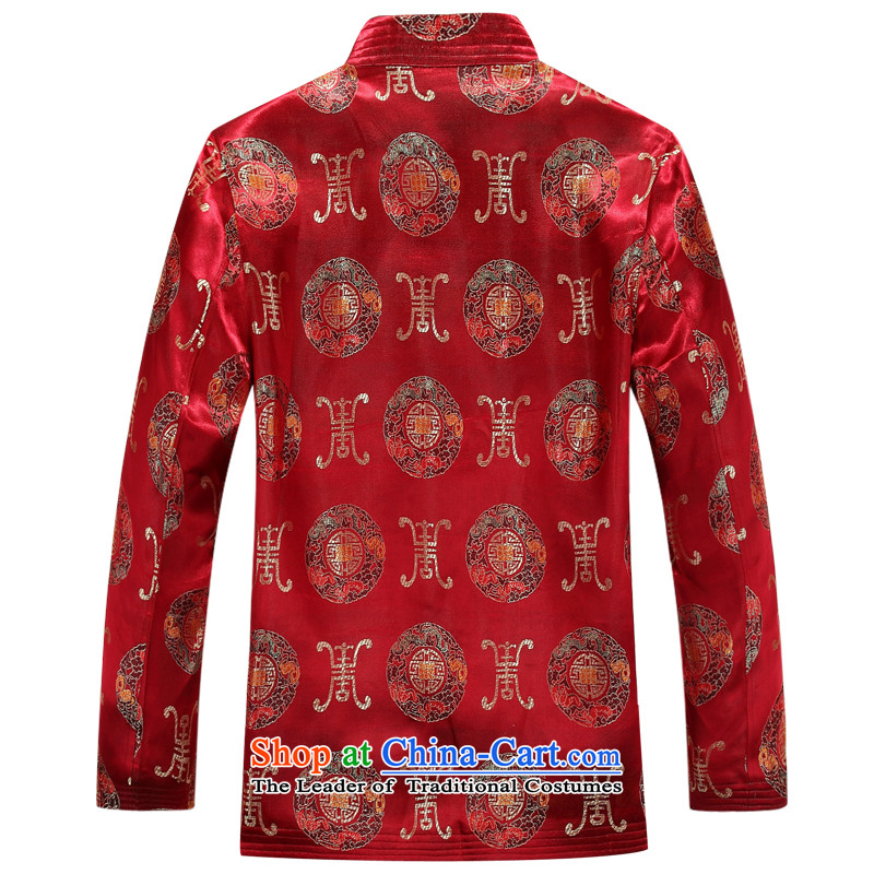 Bosnia and thre line new autumn men long-sleeved jacket Tang China wind Park Hee-Chinese Tang auspicious jackets elderly birthday birthday jacket Tang dynasty 88015聽L/175, Red Line (gesaxing Bosnia and thre) , , , shopping on the Internet