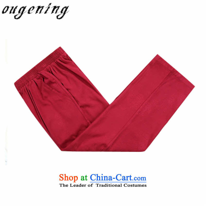 The name of the 2015 autumn of the OSCE New China wind retro. Older Tang pants thick warm casual elastic pure cotton pants grandpa chinese red?175/L