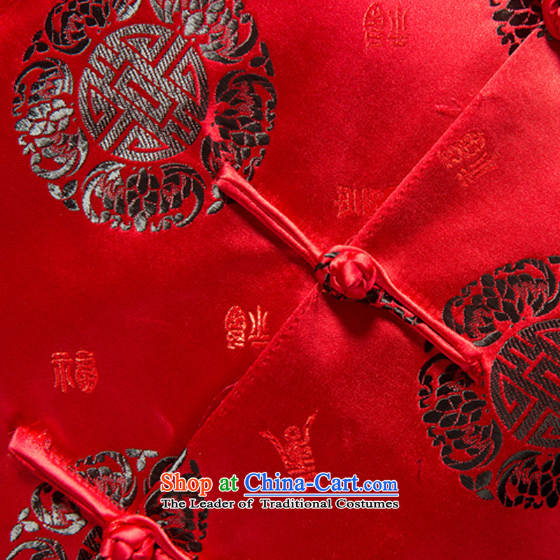 Mr Tang Dynasty poem federation men in the countrysides elderly men Tang jackets聽2015 winter folder manually loaded disc cotton short clip Chinese Tang dynasty collar national costumes mauve聽185 federal Bao Shi (lianbangbos) , , , shopping on the Internet