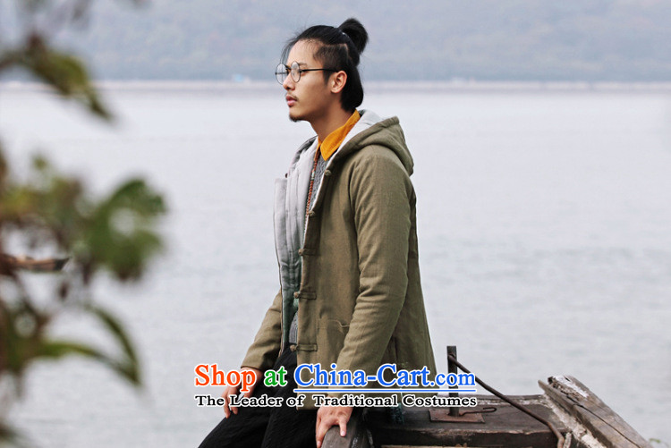 Dan Jie Shi 2015 new ethnic Chinese men Tang Dynasty of Korea disc deduction Coat cap cotton coat retro ethnic thick robe leisure and Peacock Blue XXL picture, prices, brand platters! The elections are supplied in the national character of distribution, so action, buy now enjoy more preferential! As soon as possible.