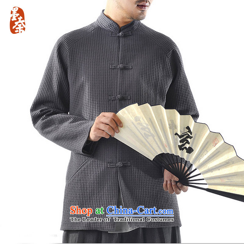 The qin designer original 2015 Winter_ thick cotton linen men China wind retro-clip Tang jackets mq1008001 carbon M_small