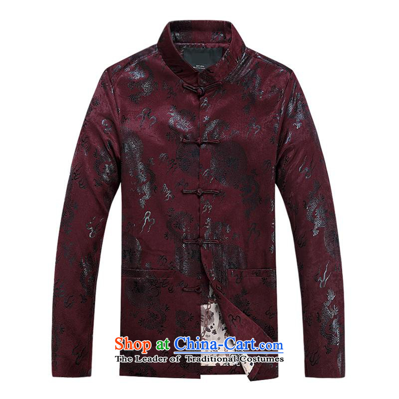 Tang dynasty male jacket coat long-sleeved thick cotton warm in the older men Tang dynasty father replace 2015 autumn and winter new products fu shou plus cotton red聽190,JACK EVIS,,, shopping on the Internet