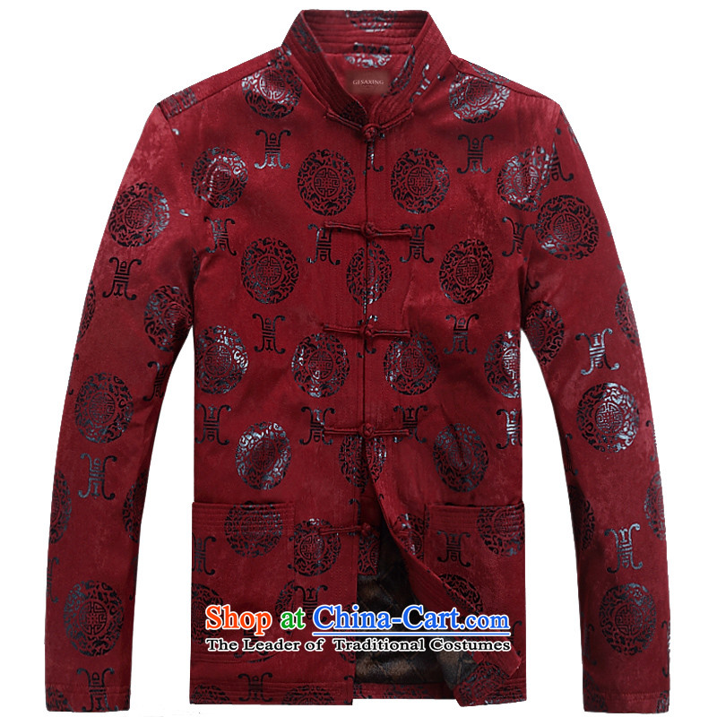 Thre line autumn and winter and the new Man Tang dynasty ãþòâ birthday banquet wedding ceremony in spring and autumn older Tang Blouses Chinese collar manually disc , the red red clip F07 winter) thre Bosnia and lines (XL/180, gesaxing) , , , shopping on