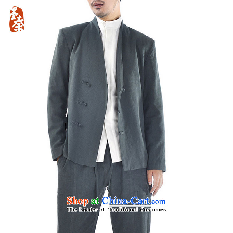 The qin designer original winter) thick cotton linen Men's Jackets Chinese Disc deduction of nostalgia for the long-sleeved Tang dynasty mq1008013 olive , ink Qin FORWARDED BY , , , shopping on the Internet