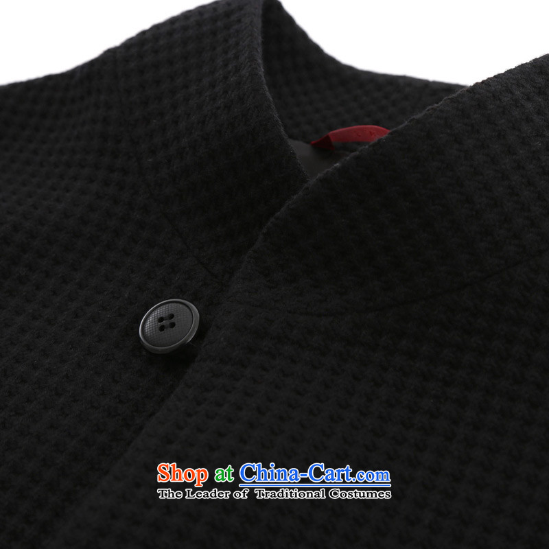 The Tang dynasty really wooden Men's Shirt 2015 autumn and winter new wool a jacket China wind 0904 Men's Mock-Neck 01 black聽wood really a , , , XXXXL, shopping on the Internet