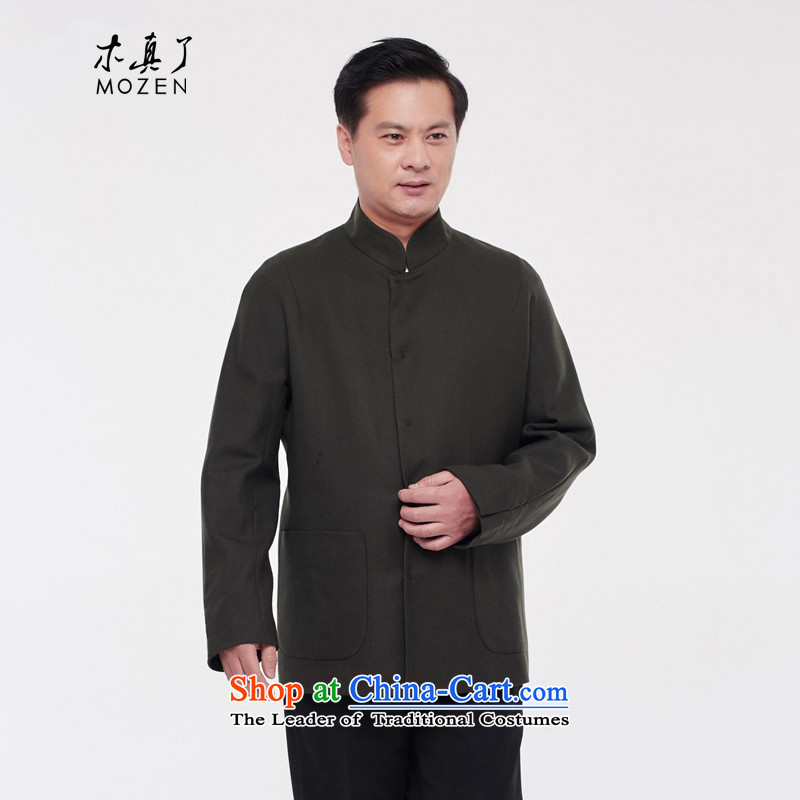 Wooden really with tang blouses men 2015 autumn and winter coats new wool??43295 14 deep green?XL