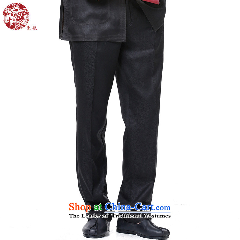 To replace 2015 Autumn Tang Lung New China wind men Heung-cloud yarn trousers�525燘lack�