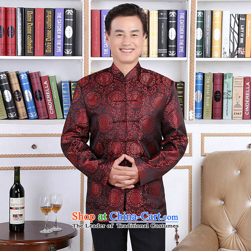 Find new autumn and winter Sophie older men and women in the Tang dynasty taxi couples with brocade coverlets made long-sleeved jacket robe wedding men?2XL