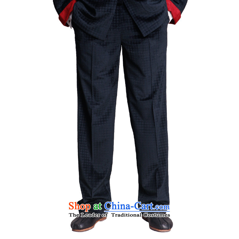 To Tang dynasty dragon autumn and winter, China Wind Pant 14357 Male Blue Blue 46