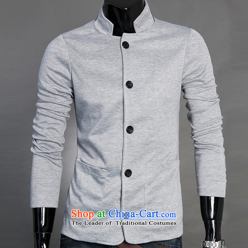The autumn and winter new national costumes men Tang Dynasty Chinese tunic characteristics clothing single layer Chinese tunic JSL011YZ leisure black聽XXL, spring Latitude , , , shopping on the Internet