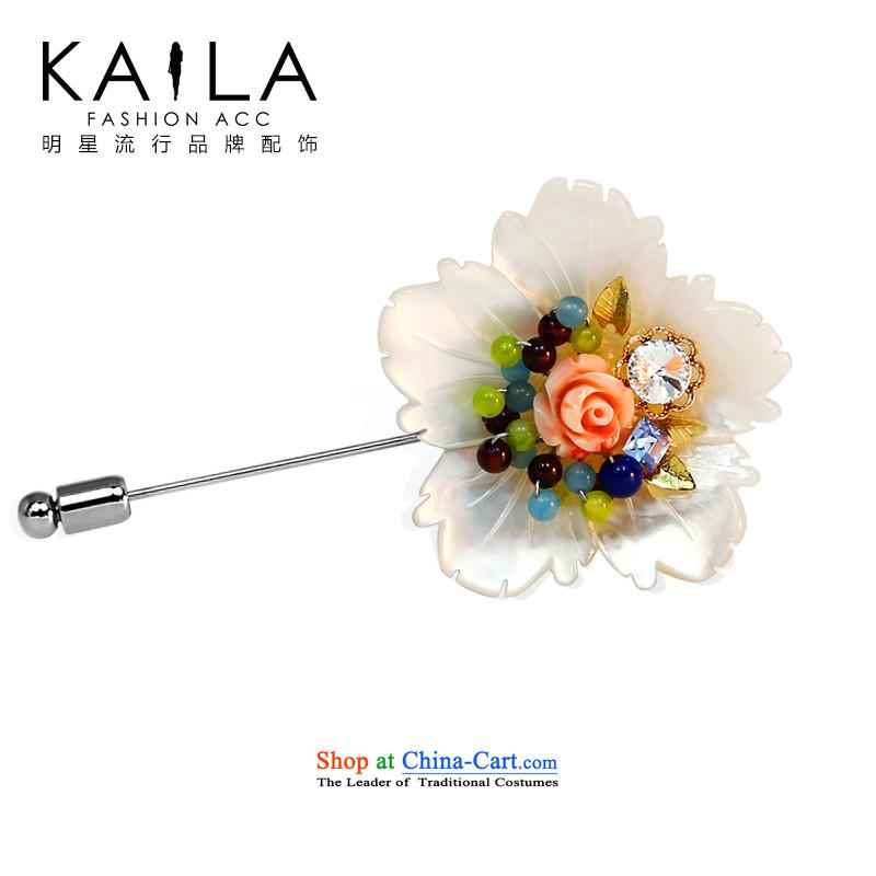 Kaila聽seem shell female Korean literature and brooches chest flower blossoms Original Design Manual