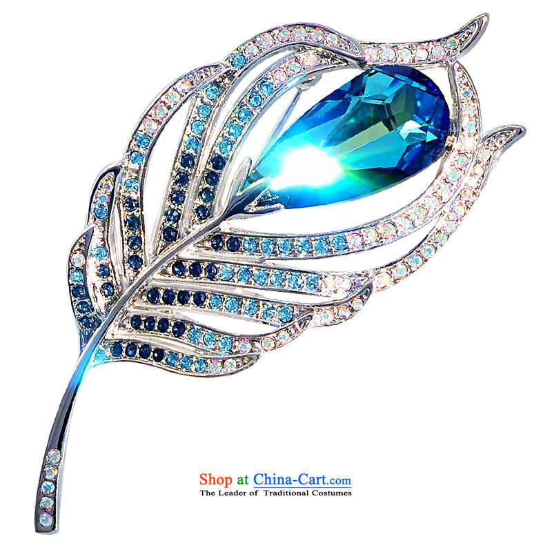 Mrs Ingrid or brooches upscale female Chest Flower pin silk scarf detained emulation crystal accessories birthday gift paradise feather