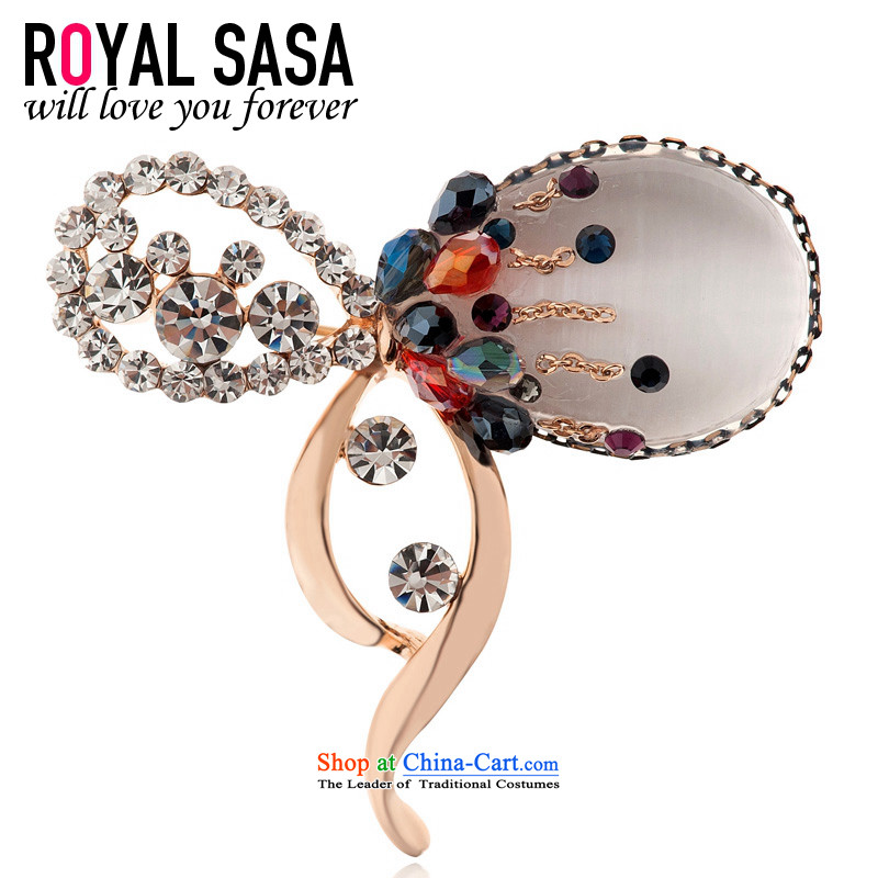The Royal Sa Sa royalsasa retro artificial crystal water drilling brooches Girl Exclusive Chest Flower pin lapel pin Korea with ornaments 05SP064