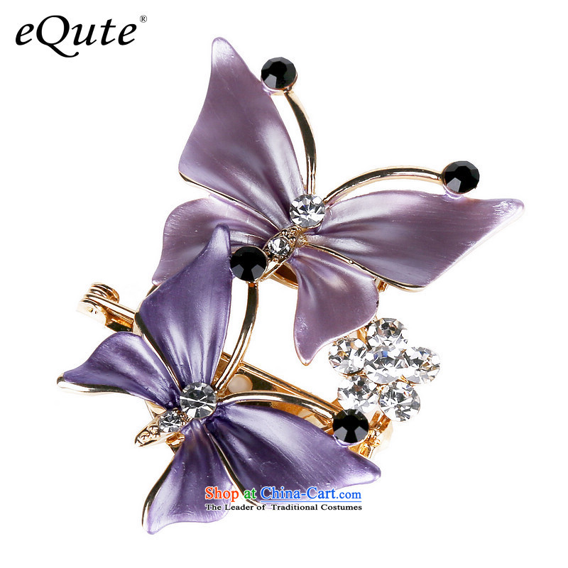 In accordance with the Korean female brooches Sleek and versatile brooches Chest Flower silk scarf clip brooches upscale girls butterfly clip brooches detained Saint Valentine's Day Gifts Purple