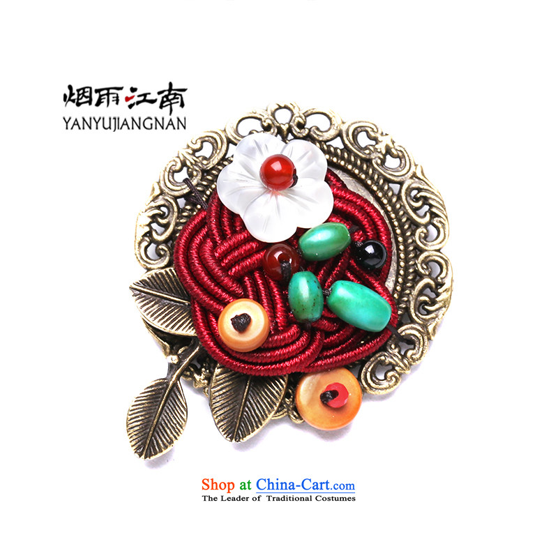 Gangnam-gu rainy handmade retro design metal shell flower palace brooches Clothing Accessories Female