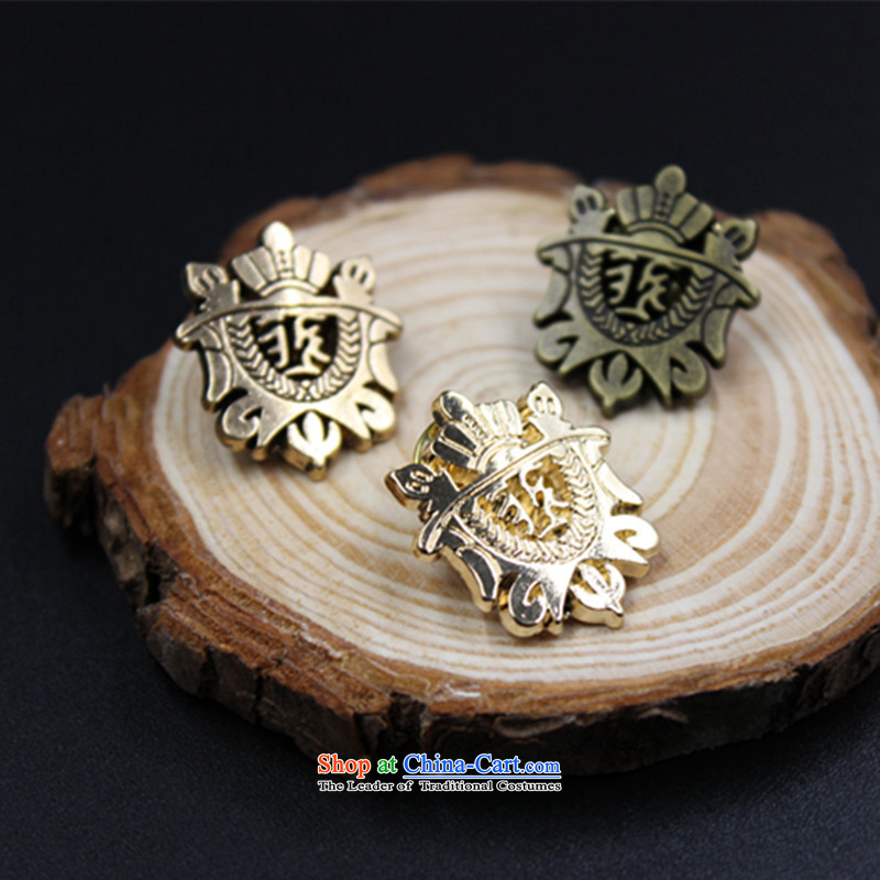 Hee-fei retro shield men brooches conforms to suit his shirt pin stylish gentleman birthday gift Valentines tri-color optional gentleman ancient gold, princess of XIFEI-hee) , , , shopping on the Internet