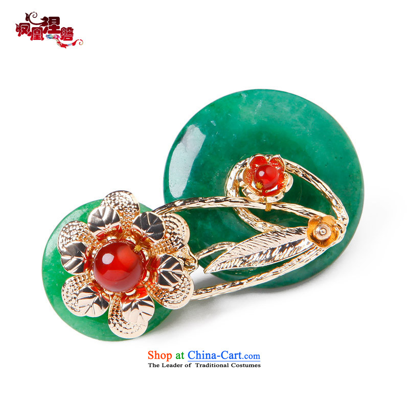 Phoenix Nirvana brooches female original temperament into color true gold-plated Cheong Wa dry paper clip Chest Flower of ethnic jewelry