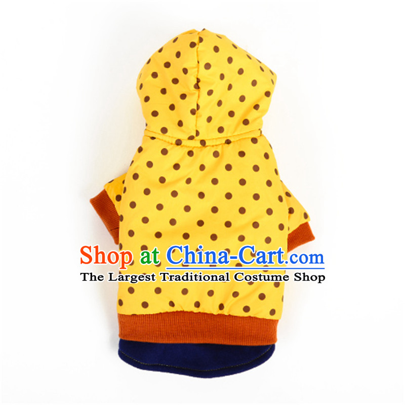 Hua Yuan hoopet autumn and winter warm dog ski jacket coat snow, lorry pet dog clothes four feet fitted chihuahuas Yorkshire Yellow Wave 2 pin installed XL_chest 46_50cm