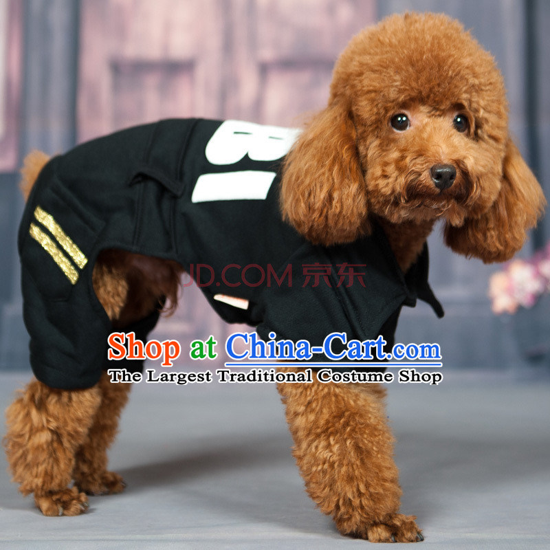 Huayuan dog clothes pet four feet fitted clothing dog chihuahuas than Xiong Hiromi tedu warm clothing collection puppies pets Fall_Winter Collections of autumn Black XL_back long 35_40cm