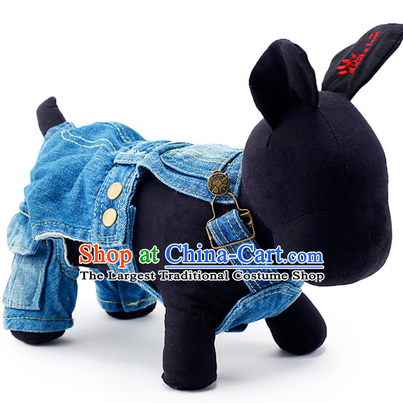 Pets allowed with Xiong petcircle vip clothes autumn and winter_ cowboy very busy cowboy jumpsuits L